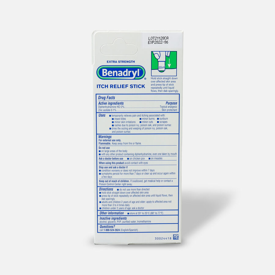 Benadryl Itch Relief Stick 14 ml, , large image number 2