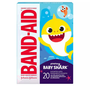 Band-Aid Baby Shark Assorted Bandages, 20ct.
