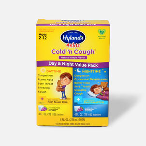Hyland's 4 Kids Cold and Cough, Day and Night Value Pack, Grape