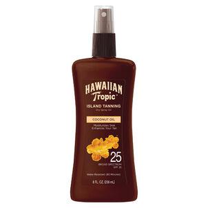 Hawaiian Tropic Dry Pump Spray Oil, 8oz.