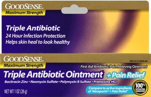 GoodSense® Max Strength Triple Antibiotic Ointment+ Pain Relief, 1 oz