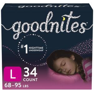 Goodnites Youth Pants for Girls, Giga Pack