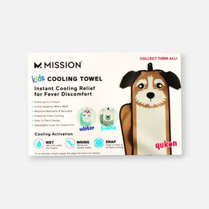 Mission Kid's Fever Relief Cooling Towel - Yukon The Puppy