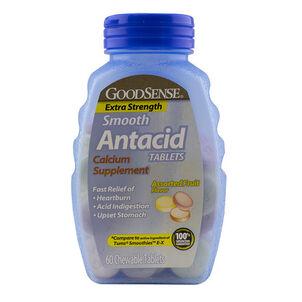 GoodSense® Antacid Calcium Smooth Extra Strength Chew Tabs, Fruit 60 ct