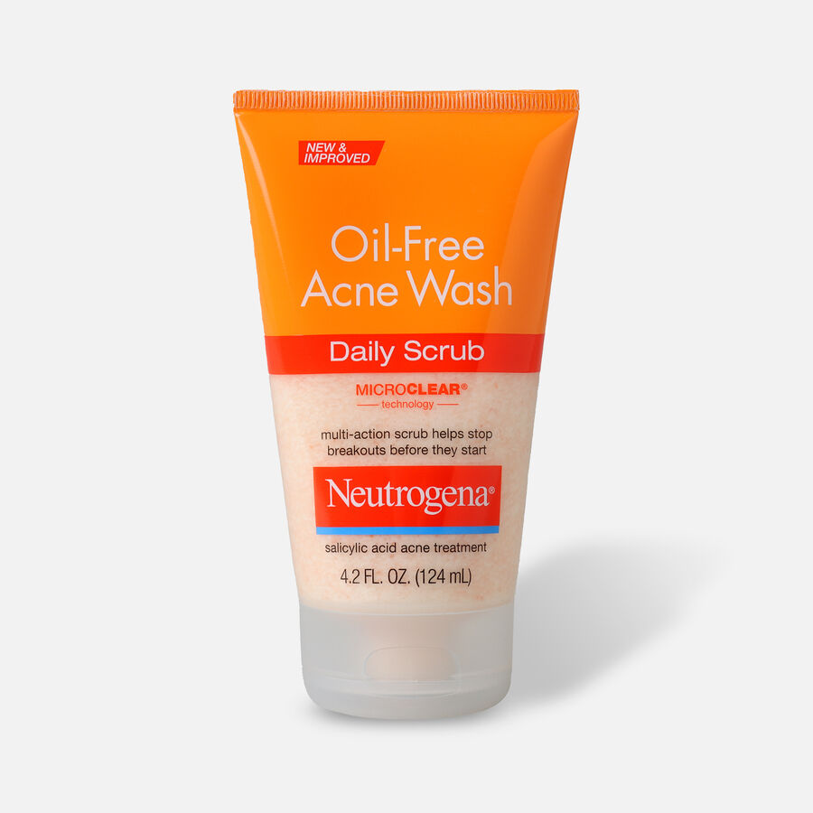Neutrogena Oil-Free Acne Daily Face Scrub, 4.2oz., , large image number 0