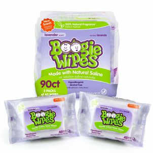 Boogie Wipes Lavender, Dual Pack, 2/45 ct