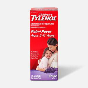 Children's Tylenol Fever Reducer & Pain Reliever, Ages 2-11, Grape Splash, 4 fl oz