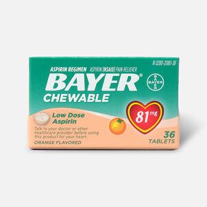 Bayer Low Dose 'Baby' Aspirin, 81mg Chewable Orange, 36 ea