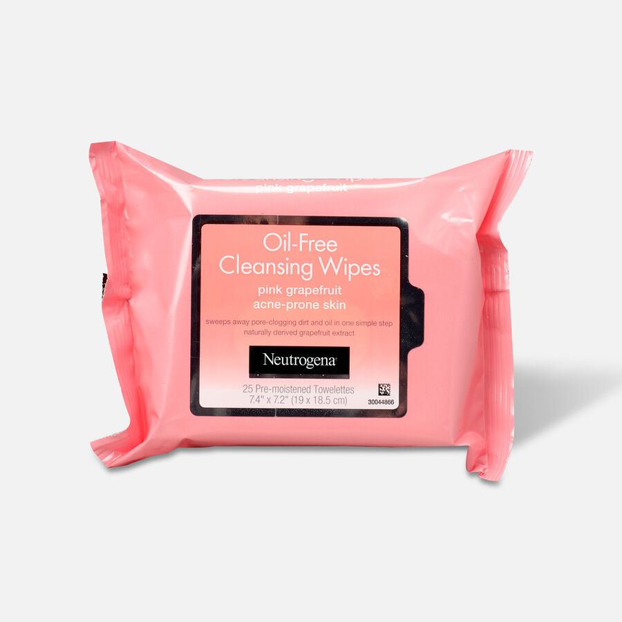 Neutrogena Pink Grapefruit Oil-Free Cleansing Wipes - 25ct, , large image number 0