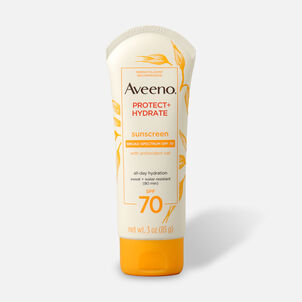 Aveeno Active Naturals Protect + Hydrate Sunscreen SPF 70 Lotion, 3 oz