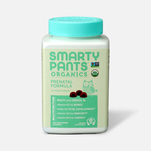 SmartyPants Organic Prenatal Complete Gummy Vitamins, 120 count
