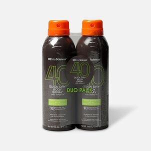MDSolarSciences Quick Dry Body Spray Duo SPF 40, 10 oz, A $40 Value!