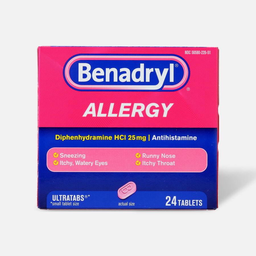 Benadryl Ultra Allergy Relief Tablets, 24 ct, , large image number 0