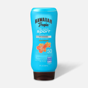 Hawaiian Tropic Island Sport Lotion Sunscreen SPF 50, 8oz.