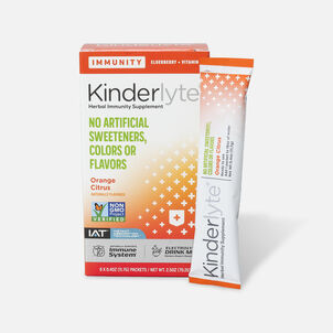 Kinderlyte Herbal Immunity Supplement Powder Orange Citrus, 6 Count