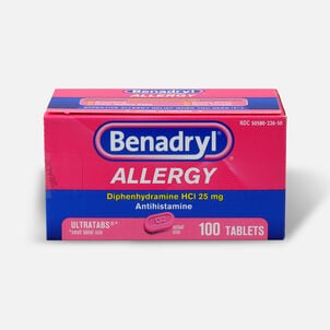 Benadryl Ultra Allergy Relief Tablets, 100 ct