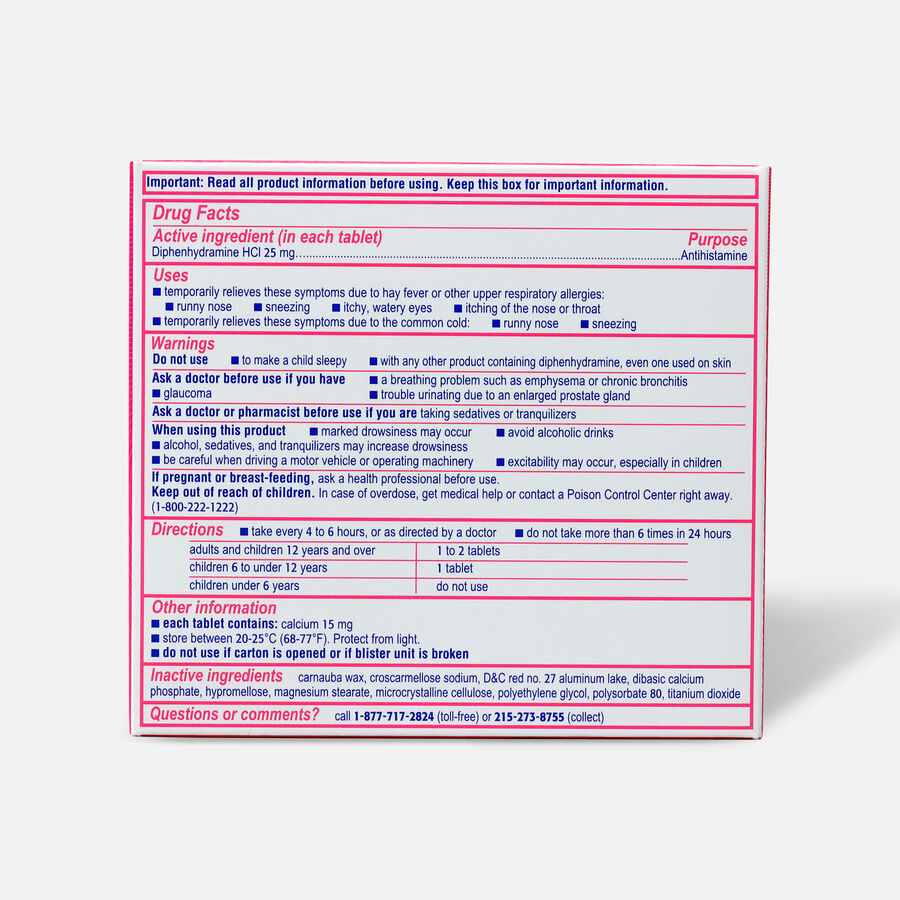 Benadryl Ultra Allergy Relief Tablets, 24 ct, , large image number 1
